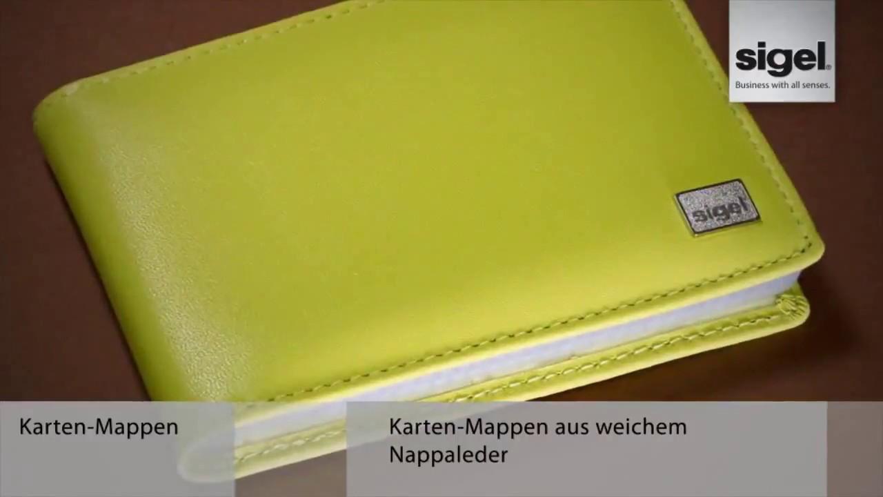 Sigel Vz251 Torino Visitenkartenbuch A7 Leder Limette Nappaleder Für 40 Karten