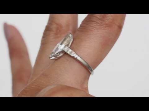 1920 Art Deco Platinum 1.04ct Marquise Modified Brilliant Engagement Ring - VEG 1151