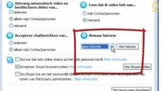 Privacy instellingen in Skype
