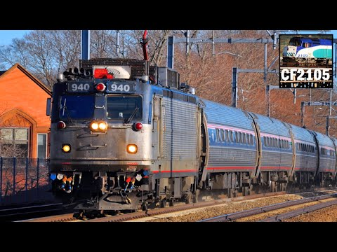 Amtrak AEM-7 Electric Locomotive Farewell!