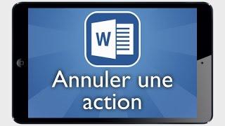 Tutoriel Word iPad - Annuler ou rétablir une action