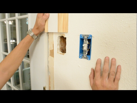 Trim Carpentry - How to Move an Electrical Outlet/Switch