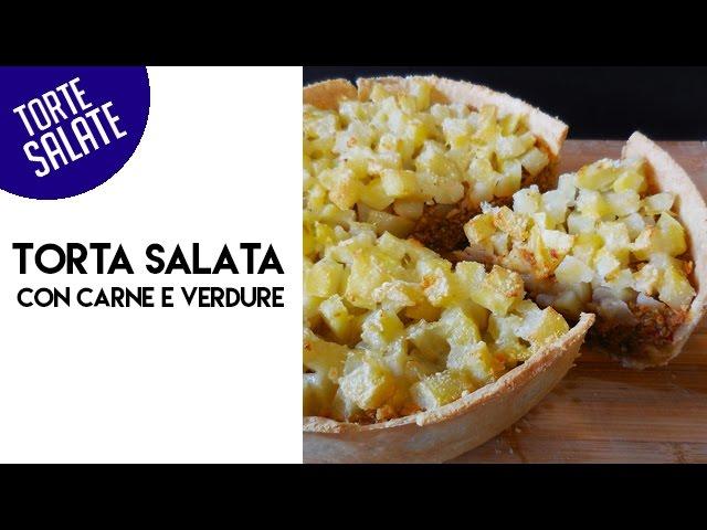 Torta salata con carne e verdure