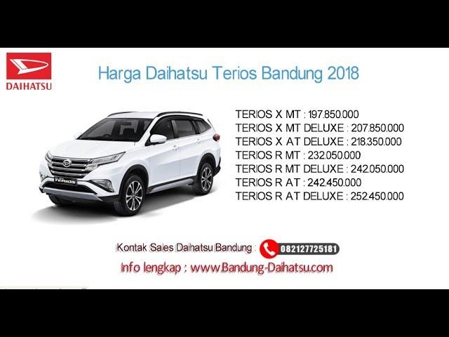 Harga Daihatsu Terios 2018 Bandung dan Jawa Barat | 082127725181