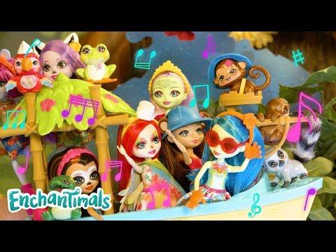 Junglewood Glitter Music Video! 🎤🎶  Enchantimals   Toy Play