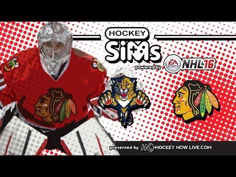 NHL 16 - Panthers vs Blackhawks (Hockey Sims)