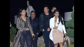 Lionel Richie takes girlfriend Lisa Parisa out to dinner