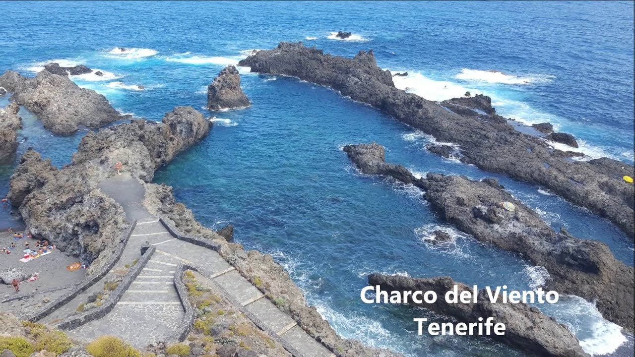 Charco del viento piscinas naturales tenerife youtube for Piscina natural tenerife