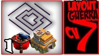 Clash of Clans - Melhor Layout Guerra CV7 COM DISPERSOR AÉREO - The Best Layout WAR TH7