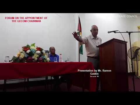 Guyana Peace Council Forum on Gecom Chairman by Ramon Gaskin, part 1