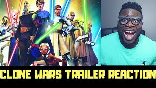 STAR WARS: THE CLONE WARS - OFFICIAL TRAILER REACTION (ITS BACK!!)