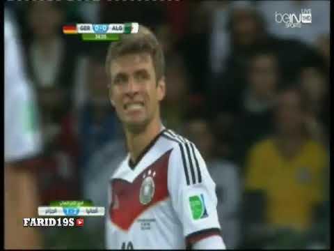 Abstract Algerie VS Germany - Hafid Derradji - World Cup 2014