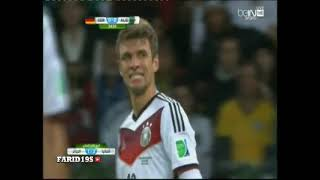 Abstract Algerie VS Germany - Hafid Derradji - World Cup 2014
