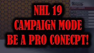 NHL 19 CAMPAIGN Mode Be A Pro CONCEPT**