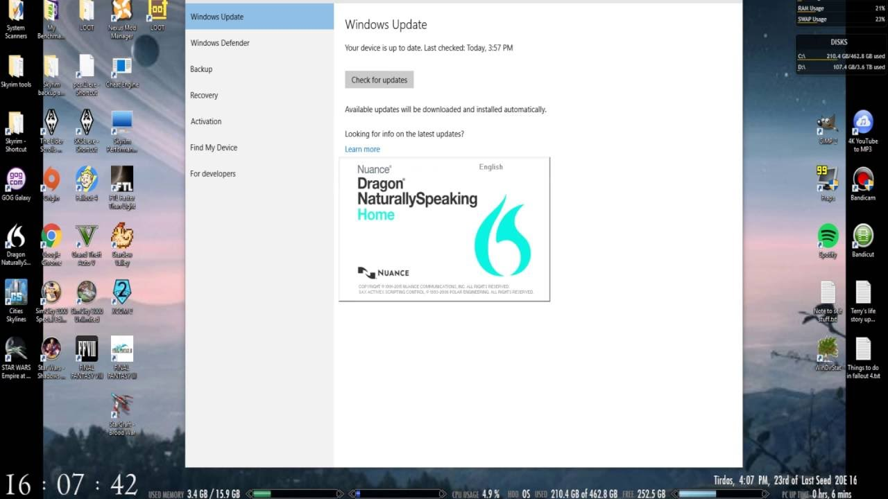 Problems with Dragon Naturally Speaking Home 13 on Windows 10 and Google  chrome