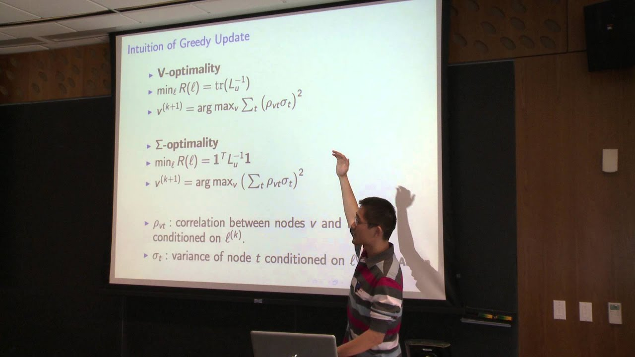CMU Machine Learning Lecture March 4, 2013