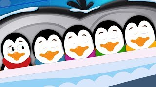 Five In The Bed Penguin | Cartoon Videos For Children | Nursery Rhymes by Kids Tv