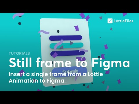 How to add a single frame as an SVG from the LottieFiles library into Figma