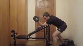 Тренируем руки дома. Урок 02 Изолированное сгибание рук на бицепс со скамьей под углом