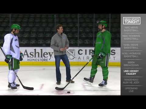 UND Hockey Face-Off Tricks 11/30/17