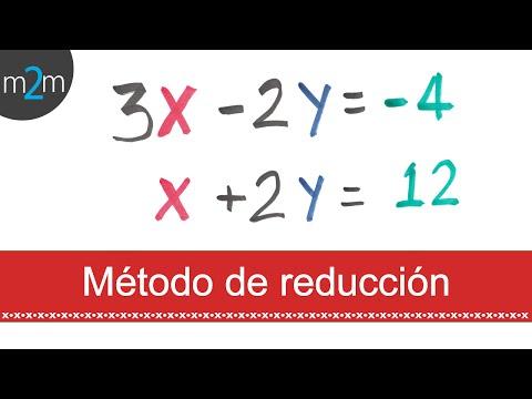 Sistema de ecuaciones lineales 2x2 │ Reducción