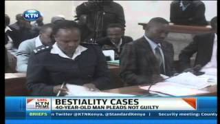 Man pleads not guilty on beastiality act