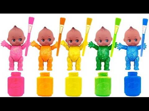 Learn Colours Hand Body Color Paint Finger Family Nursery Rhymes Compilation with Baby Doll