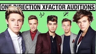 Zayn Malik , Louis Tomlinson , Harry Styles , Liam Payne ,and Niall Horan auditions