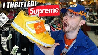 I FOUND SUPREME IN THE THRIFT! A Nike SB Blessing | Trip to the Thrift #250
