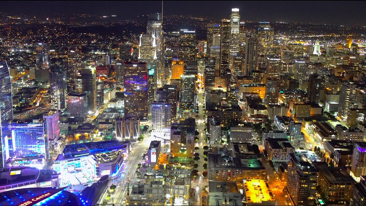 Downtown Los Angeles Helicopter Ride 4K YouTube