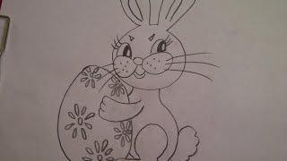 КАК НАРИСОВАТЬ ЗАЙЦА НА ПАСХУ (очень просто, для начинающих)(Здравствуйте! Предлагаю вашему вниманию видеоролик, где я показываю, как очень просто нарисовать зайца..., 2015-03-05T14:45:00.000Z)
