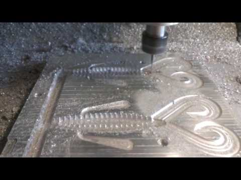 Manufacturing of aluminum molds for soft plastic baits - YouTube