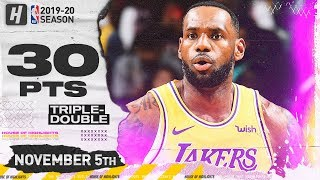 LeBron James CRAZY Triple-Double Highlights vs Bulls (2019.11.05) - 30 Pts, 11 Ast, 10 Reb!