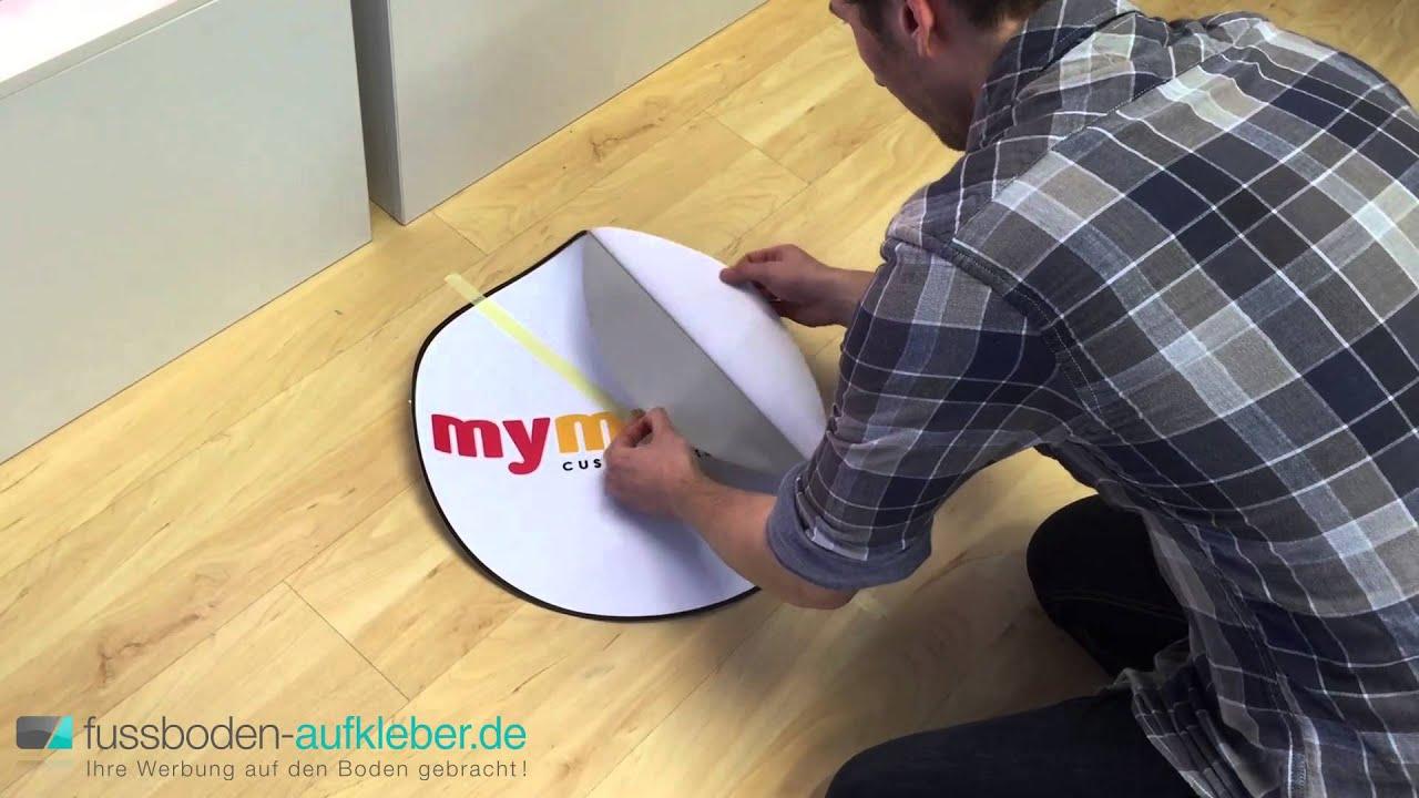 3d Fußboden Dresden ~ Montagevideo fussboben aufkleber.de youtube