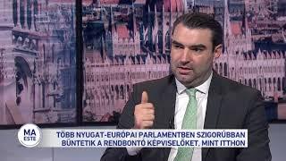 Több nyugat-európai parlamentben szigorúbban büntetik a rendbontó képviselőket, mint itthon