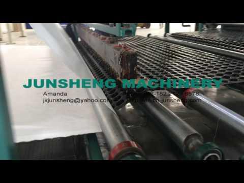 Online Glue Geotextile Lamination onto cupsate machine