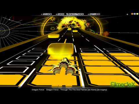 "DragonForce - Through The Fire And Flames | AudioSurf""Guitar Hero mode"""