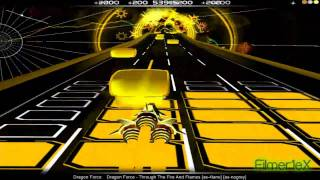 "DragonForce - Through The Fire And Flames | AudioSurf  ""Guitar Hero mode"""