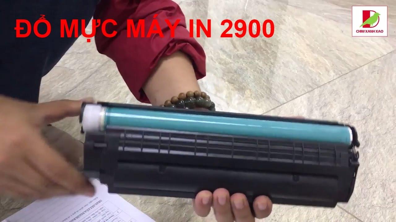 Đổ mực máy in Canon 2900