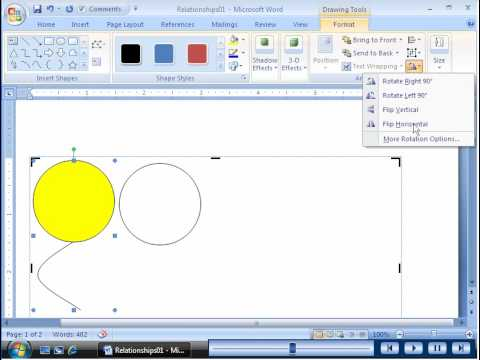 Word 2007 Drawing And Modifying Shapes Youtube