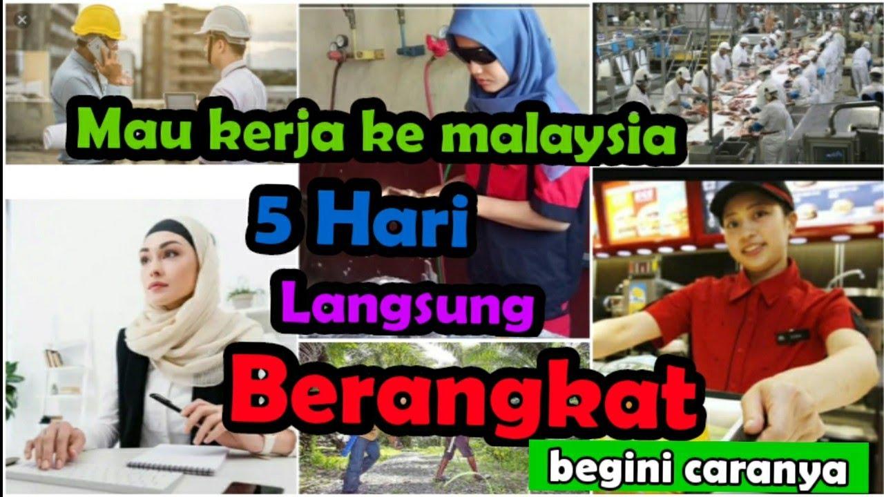 5 Hari Proses Langsung Berangkat Kerja Malaysia Terbaru Lowongan Kerja Luar Negeri Youtube