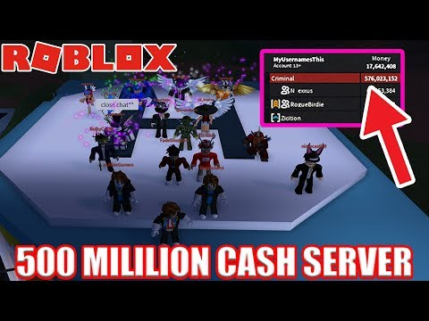 RICHEST Jailbreak SERVER EVER! (OVER 500 MILLION CASH) | Roblox Jailbreak