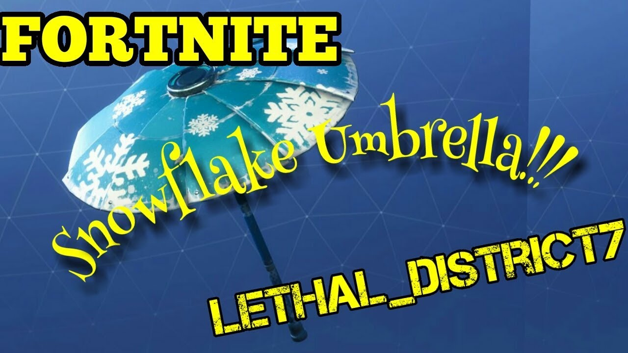 Fortnite snowflake umbrella