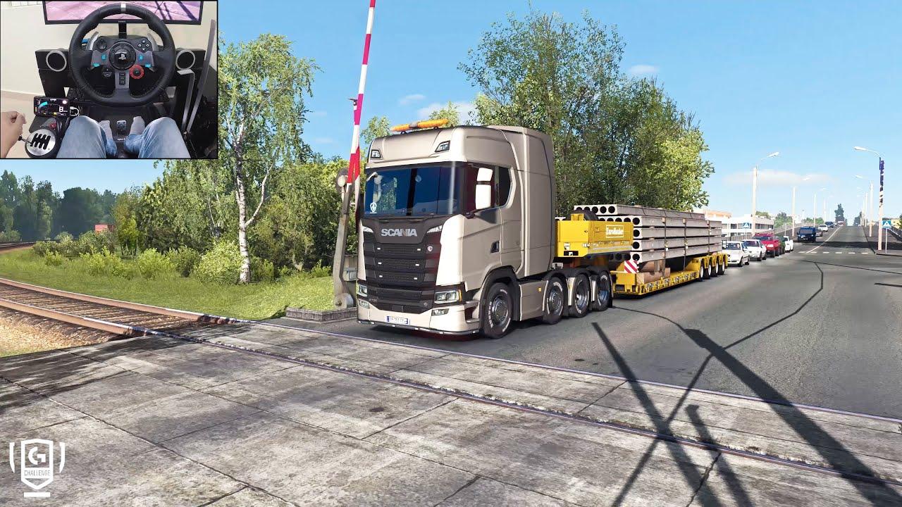Download Scania S730 - A Russian Job | Euro Truck Simulator 2 | Logitech g29 gameplay