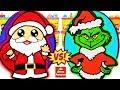Huevos Sorpresa Gigantes de Santa Claus o Papa Noel VS El Grinch de Plastilina Play Doh en Español