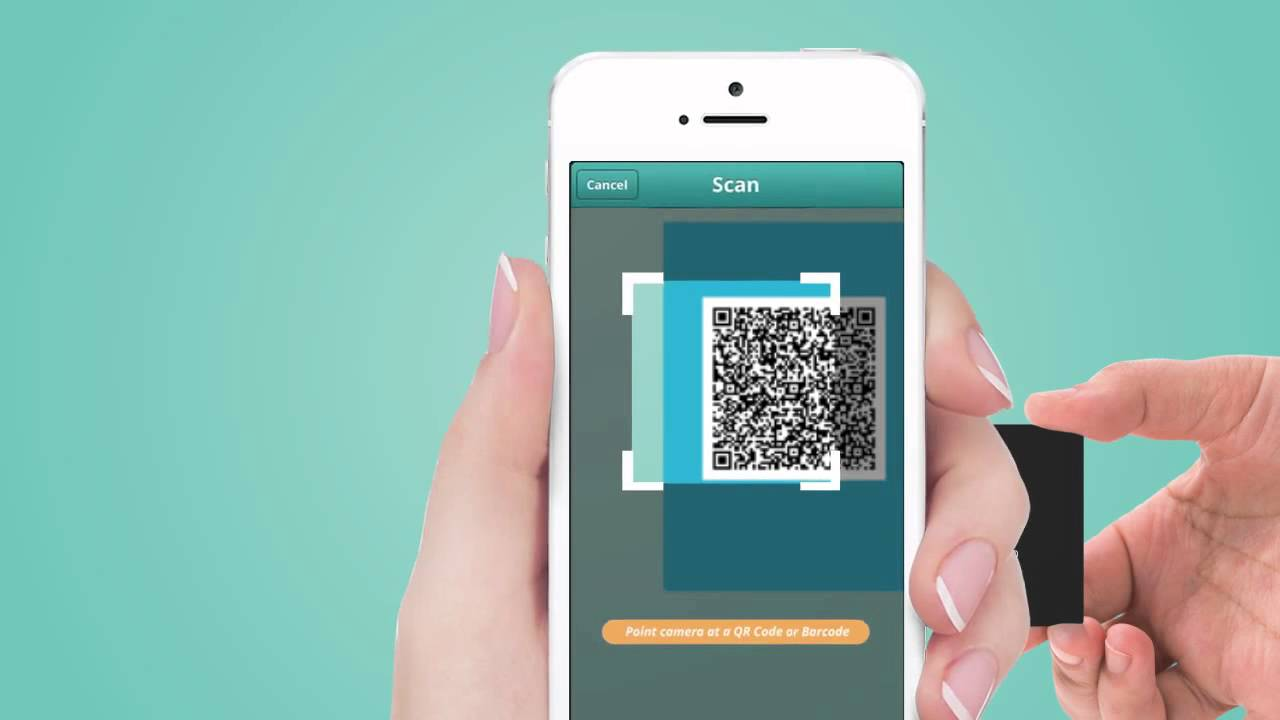 How to scan and use qr code for business card with iphone youtube reheart Choice Image