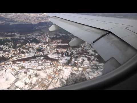 Slijetanje u Sarajevo - Landing to Sarajevo airport