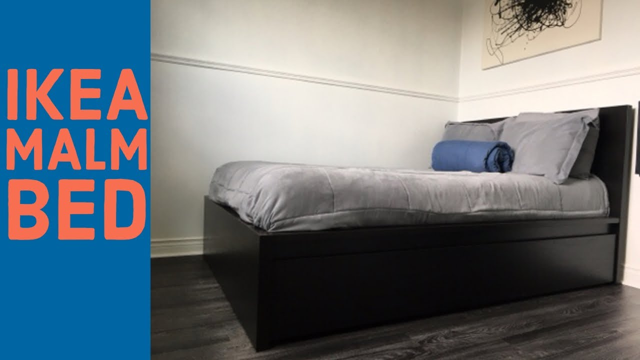 How To Assembly Ikea Malm Bed Black Brown Full 2 Storage Boxes Youtube,Pink Paint Color For Bedroom Walls