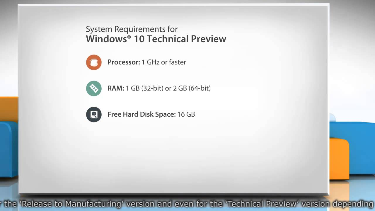 System requirements for Windows® 10 Technical Preview - YouTube
