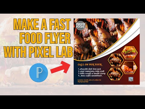 How To Make A Fast Food Flyer Tutorial || Pixel Lab